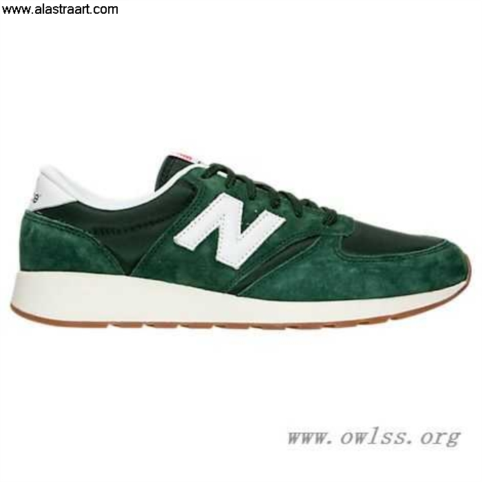 Green/White/Gum Mens New Upmarket Balance 420 Suede Shoes Casual Pig MRL420SF ACFHIOQSTX