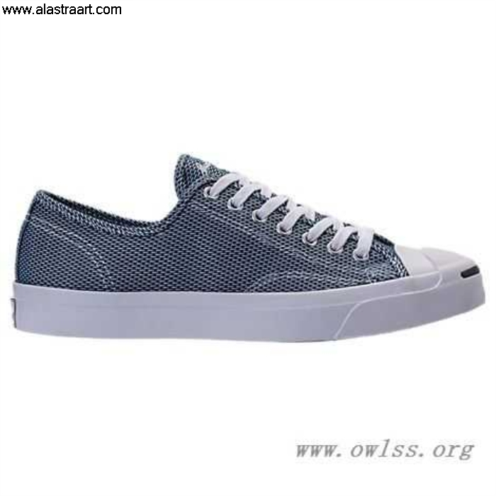 Navy/White Unisex Converse Jack Purcell Low Top Finest Woven Shoes 155631C NVY Textile Casual AGLNQV1239