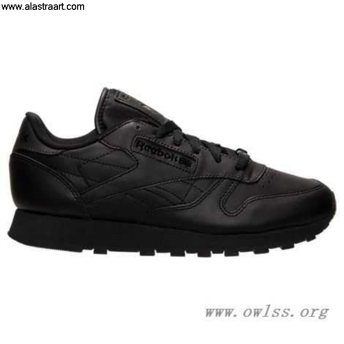 Black Admirable Womens Reebok Classic V45248 Leather Shoes BLK Casual CEJKLRSUX5