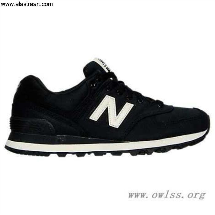 Black/Angora Womens New Balance 574 Ideally Canvas Waxed Shoes MDB Casual WL574MDB AEFLORY089