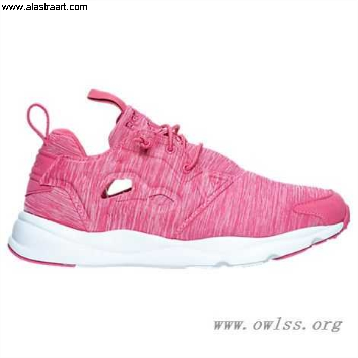 Pink/White Womens Reebok Furylite Casual PNK Major AR3043 Jersey Shoes LOPSTUX579