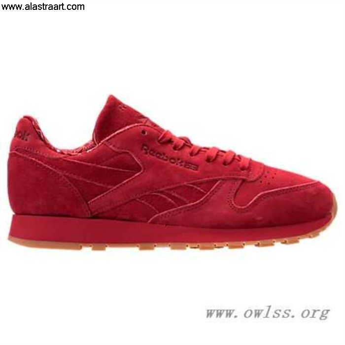 Red/Gum Promoting Mens Reebok Classic Leather BD3231 Shoes Casual TDC ADEIJMT379