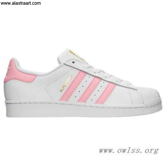 White/Light Pink/Gold Womens adidas Superstar Casual Shoes PNK Apropos BY3724 BDGILRSXZ2